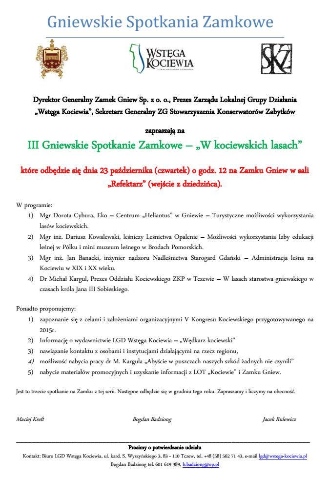 Wstęga Kociewia - zdjecia gniewskiespotkaniazamkowe3