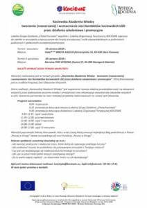 Wstęga Kociewia - zaproszenie warsztaty kaw 19 20 06 2018