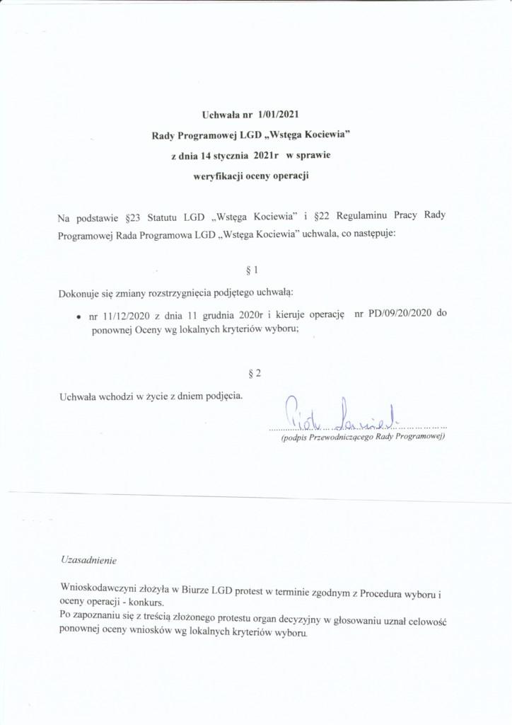 Wstęga Kociewia - skan uchwala protest nawww